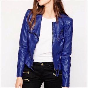 Blank NYC Vegan Leather Moto Jacket Size Medium